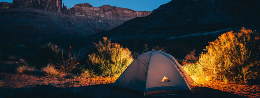 camping tent outdoor night