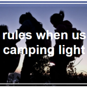 camping light rules safety people