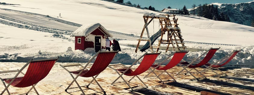 red chair snow