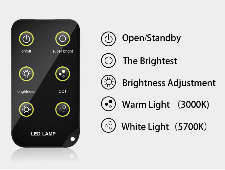 LED Photography Light rainproof remote adjustable detail 13