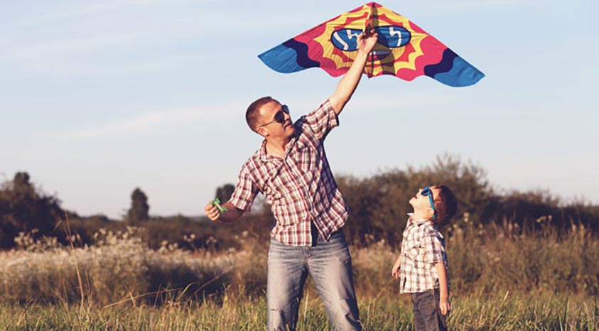 Play rounders-go on a nature trail fly a kite